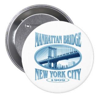 Manhattan Bridge New York 7.5 Cm Round Badge
