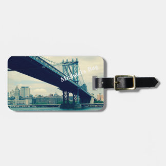 Manhattan Bridge, New York City Custom Luggage Tag