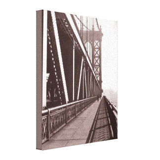 Manhattan Bridge Photograph Gallery Wrapped Canvas