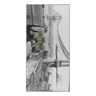 Manhattan Bridge Vintage Photo Wood Print