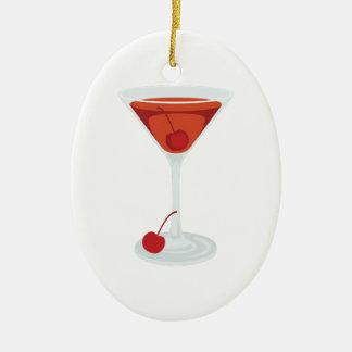 Manhattan Cocktail Christmas Ornament