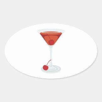 Manhattan Cocktail Oval Sticker