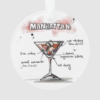 Manhattan Drink Recipe Design Ornament