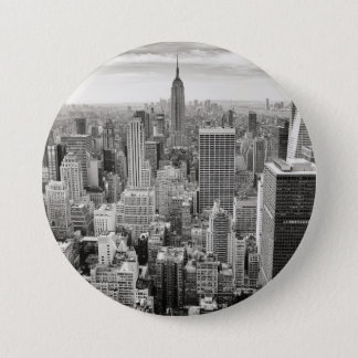 Manhattan from Above 7.5 Cm Round Badge