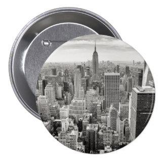 Manhattan from Above 7.5 Cm Round Badge
