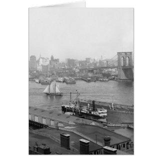 Manhattan from Brooklyn, 1905 Card