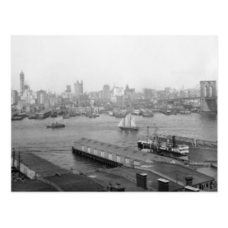 Manhattan from Brooklyn, 1905 Postcard