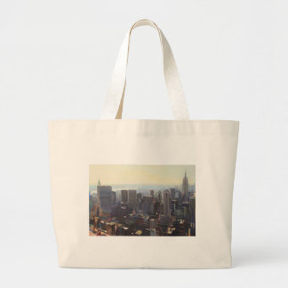 Manhattan from the Rockefeller Building 2012 Large Tote Bag