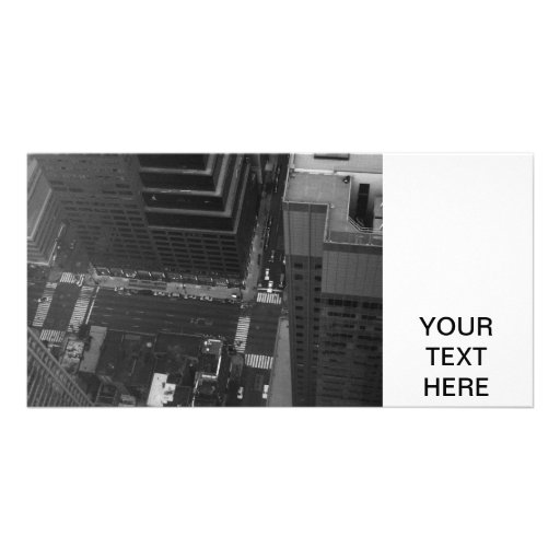 Manhattan from the top photo card template