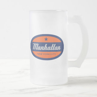 *Manhattan Frosted Glass Mug