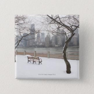 Manhattan in the Winter 15 Cm Square Badge