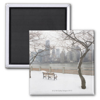 Manhattan in the Winter Magnet