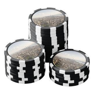 Manhattan New York Aerial View Set Of Poker Chips