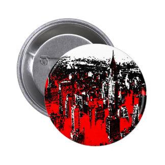 Manhattan New York 6 Cm Round Badge