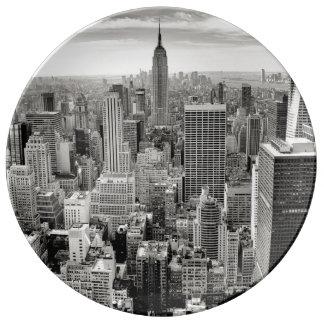 Manhattan, New York (black & white panorama) Plate