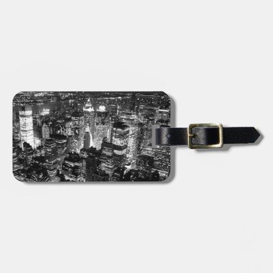 Manhattan New York City Luggage Tag
