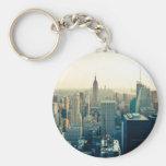 Manhattan, New York city skyline Key Chains
