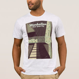 Manhattan New York City Travel poster. T-Shirt