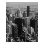 Manhattan New York City with Chrysler Building Poster