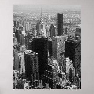 Manhattan New York City with Chrysler Building Poster