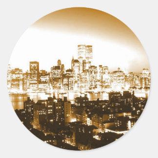 Manhattan New York Classic Round Sticker