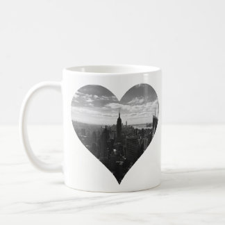Manhattan New York Empire State Heart Mug