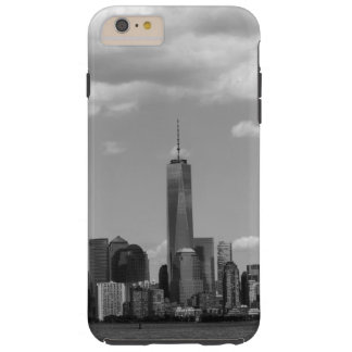 Manhattan New York in black and white Tough iPhone 6 Plus Case