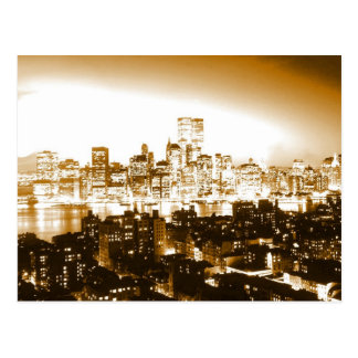 Manhattan New York Postcard