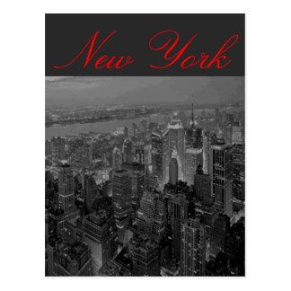 Manhattan New York Script Postcard