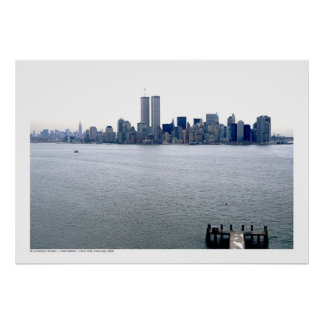 Manhattan - New York Skyline, February 2000 Poster