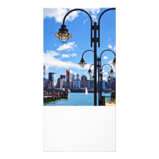 Manhattan, NY - Skyline From Liberty State Park Picture Card