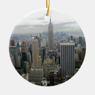 Manhattan, NYC Christmas Ornament