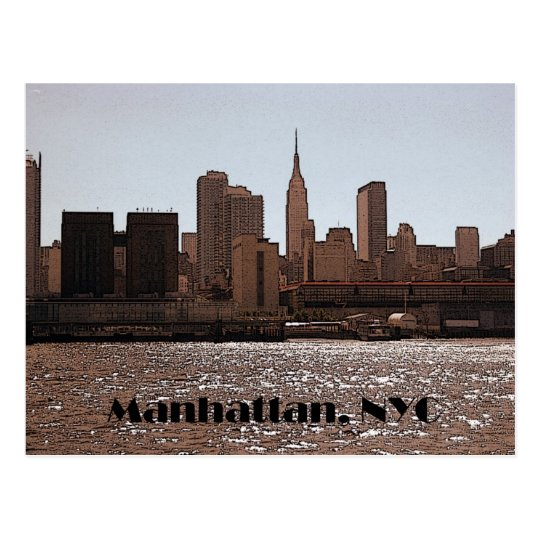 Manhattan postcard