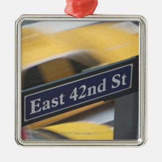 Manhattan Silver-Colored Square Decoration