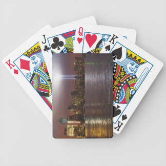 Manhattan Skyline 2 Bicycle Playing Cards