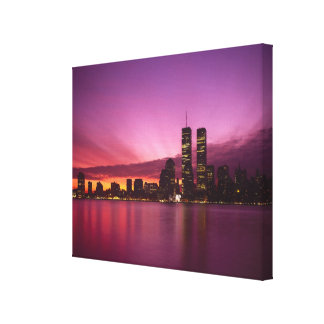 Manhattan Skyline and Hudson River, New York, 2 Stretched Canvas Prints