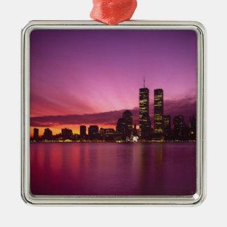 Manhattan Skyline and Hudson River, New York, Christmas Ornament