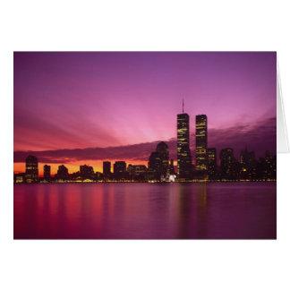 Manhattan Skyline and Hudson River, New York, Greeting Card