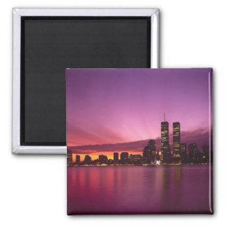 Manhattan Skyline and Hudson River, New York, Fridge Magnet