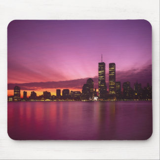 Manhattan Skyline and Hudson River, New York, Mouse Mat