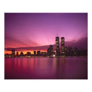 Manhattan Skyline and Hudson River, New York, Photo Print