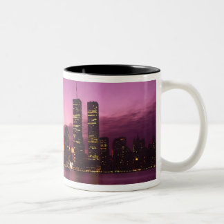 Manhattan Skyline and Hudson River, New York, Two-Tone Mug