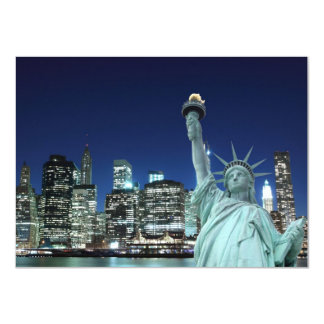 Manhattan Skyline and The Statue of Liberty Personalized Announcement