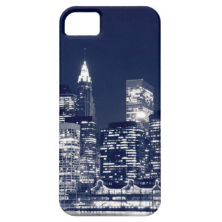 Manhattan Skyline At Night New York City iPhone 5 Case
