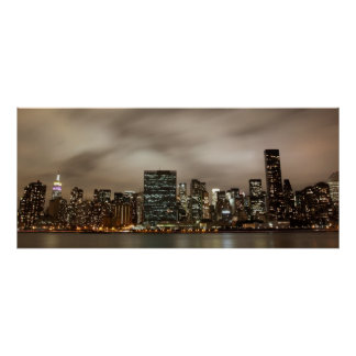 Manhattan Skyline at Night Print