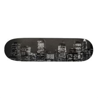 Manhattan Skyline at Night Skateboard Deck