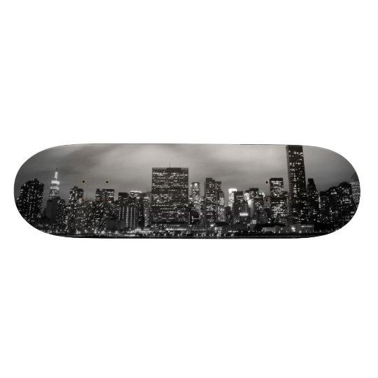 Manhattan Skyline at Night Skateboards