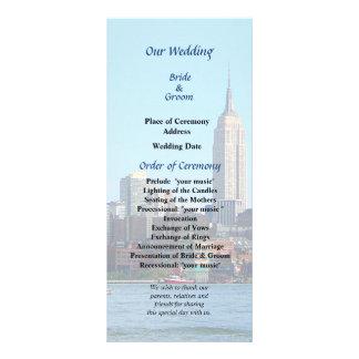 Manhattan Skyline From Hoboken Wedding Program Rack Card Template