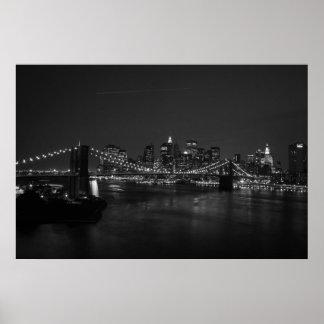 Manhattan Skyline II B&W Poster