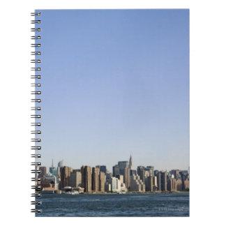 Manhattan Skyline, New York City, NY, USA Spiral Note Book